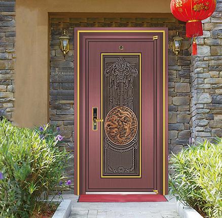 进户中式不锈钢钢门