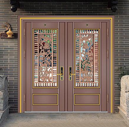 中式不锈钢双开门